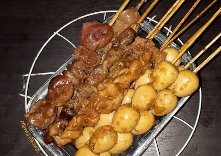 Sate Telur Puyuh, Ati Ampela Ayam (Pelengkap Soto Semarang)