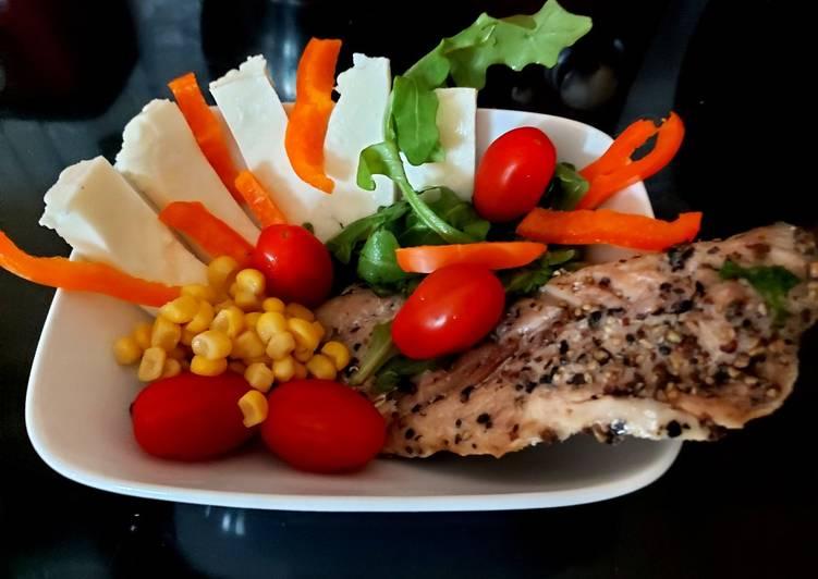Recipe of Homemade My Peppered Mackerel Salad 😘