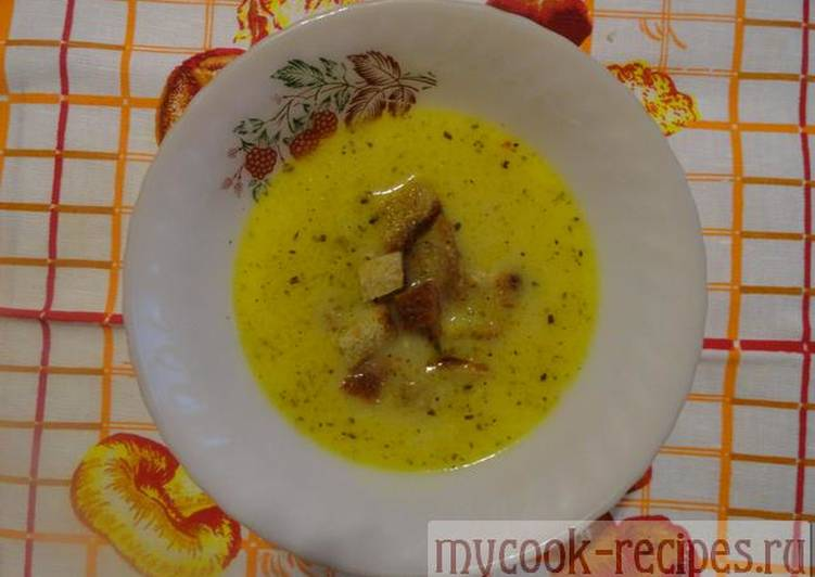 Recipe of onion soup with cheese