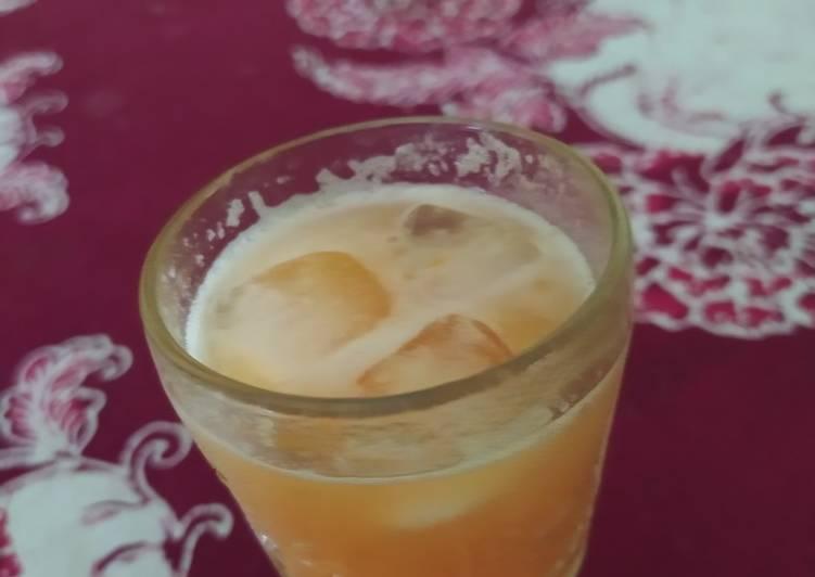Jus jertopa (jeruk nipis, tomat, pepaya
