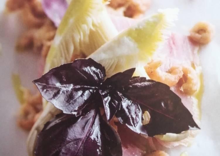 Jambon, Crevettes grises et Pleurotes marinés