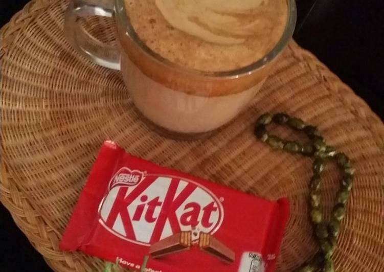 Hot chocolate with coffee