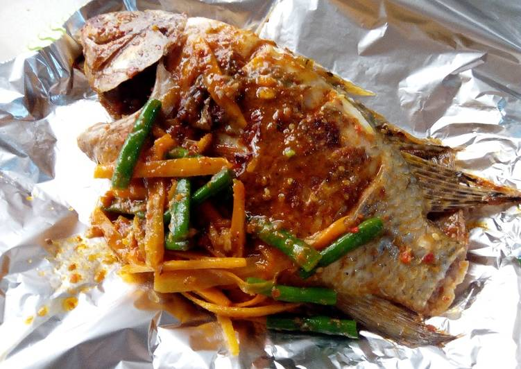 Step-by-Step Guide to Prepare Super Quick Homemade Spicy veggies tilapia