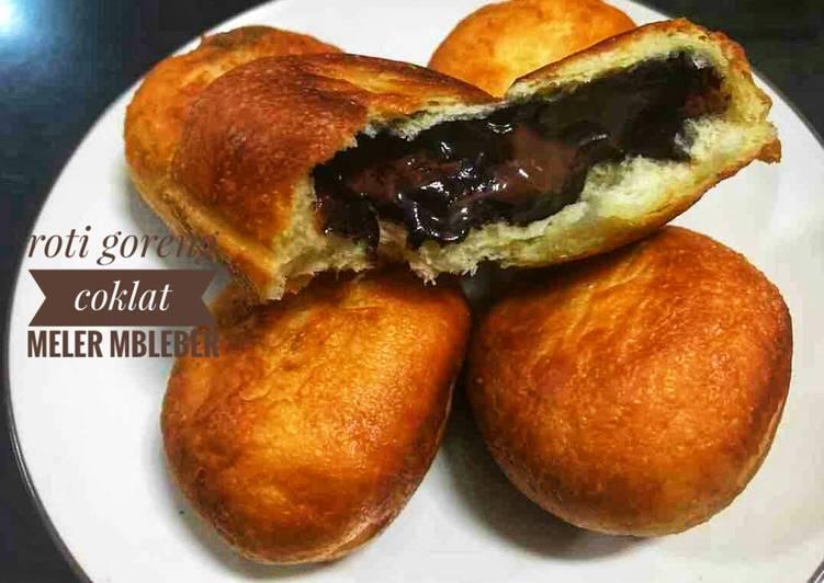 #Roti Goreng Coklat Meler Bleber