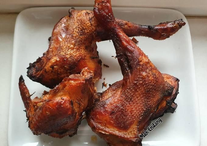Ayam Bakar Bacem Simpel (Tanpa Gula Jawa)