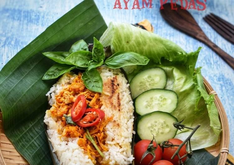 Nasi Bakar Ayam Pedas (Maraton Ramadhan) - velavinkabakery.com