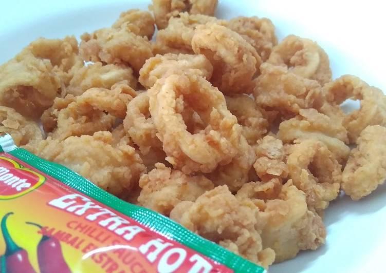 19. Cumi Goreng Tepung ala Seafood Lamongan (no amis dan alot)