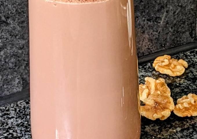Chocolate walnut milkshake