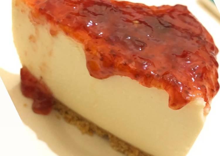 Strawberry CheeseCake Breadtalk. No Mixer!! No Oven!!