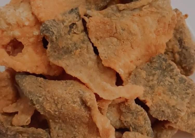 Kulit salmon crispy