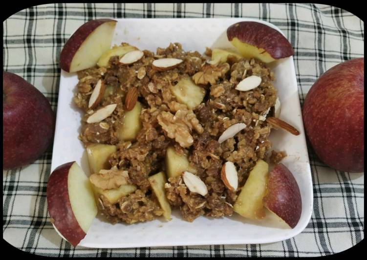 Steps to Prepare Speedy Apple Cobbler Oatmeal