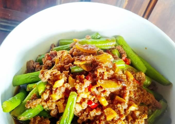 Buncis szechuan (menu diet)