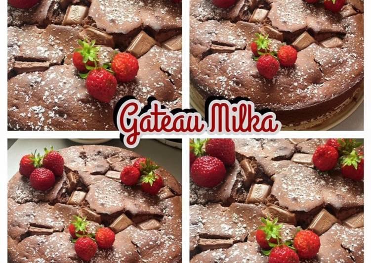 recette 🍴Gâteau au chocolat Milka🍴 délicieux
