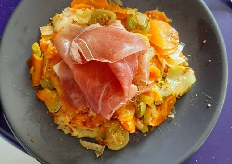 Salade carottes-poireaux