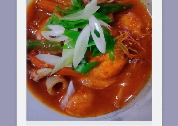 Cumi udang saus padang - cookandrecipe.com
