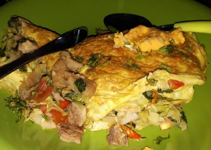 Resep simple diet puasa 30 hari - Omlet daging Hari ke 2
