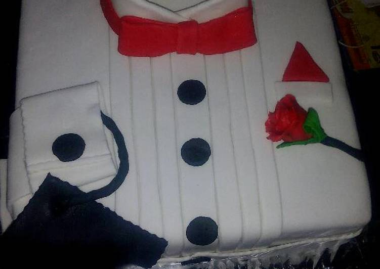 Cute packet shirt made with fondant icing