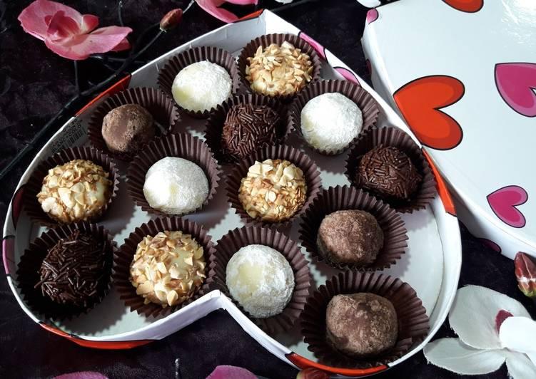 Receta trufas de chocolate con leche thermomix