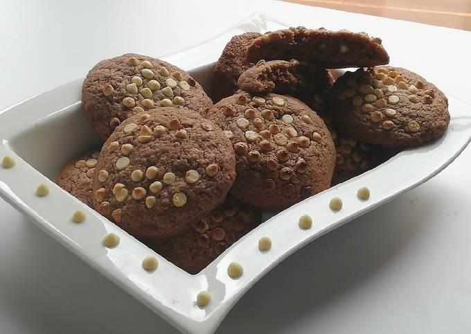 Cookies aux pépites de chocolat blanc