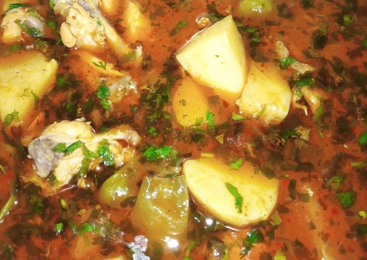 Recipe of Speedy Chicken Alu Shorba