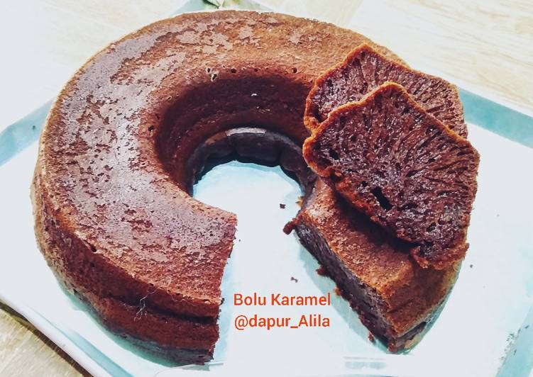 resep masak Bolu Karamel a.k.a Sarang Semut, No Mixer, Oven Tangkring - Sajian Dapur Bunda