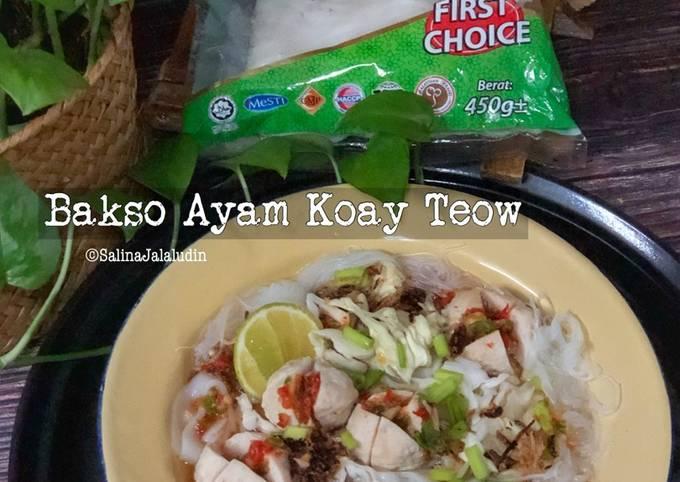 Resep Bakso Ayam Koay Teow Anti Gagal