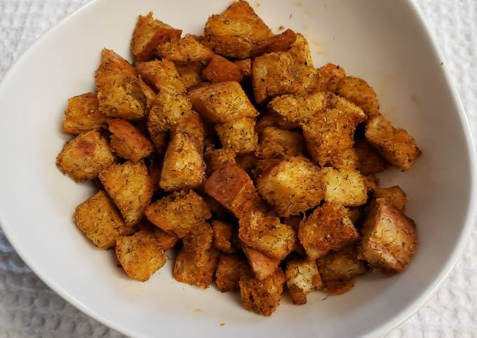 Savory just right croutons