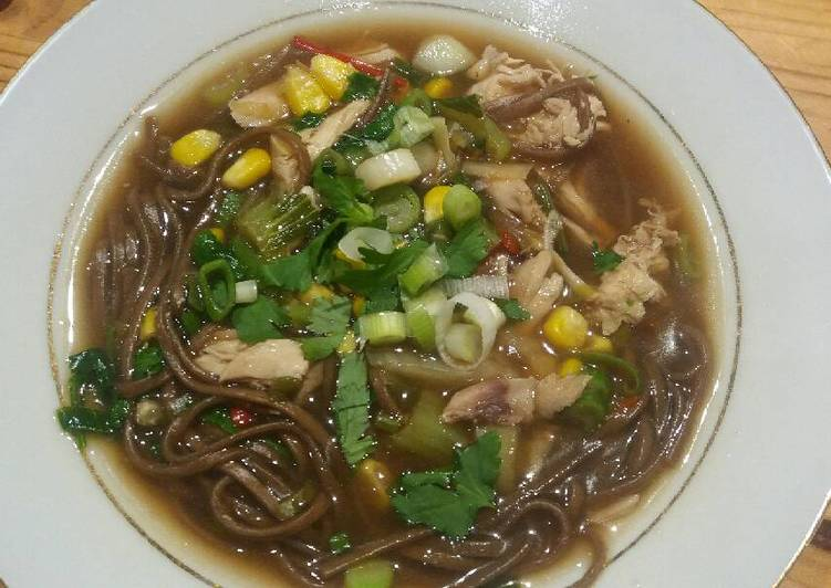 Chinese style chicken noodle soup