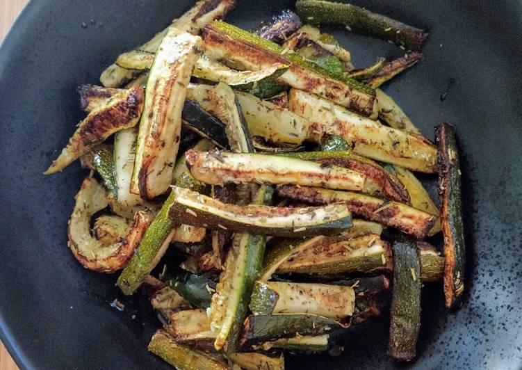 Courgettes grillées au four