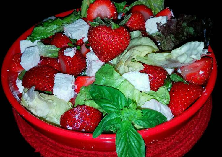 Steps to Prepare Speedy Mike's Strawberry Feta Salad
