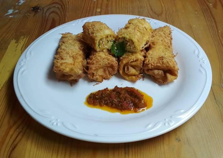 Risoles crispy isi sayuran (low carbo) menu diet