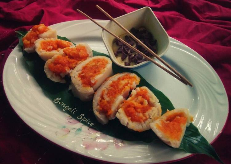 Sweet Coconut Steamed roll 🍛 (My fusion recipe)
