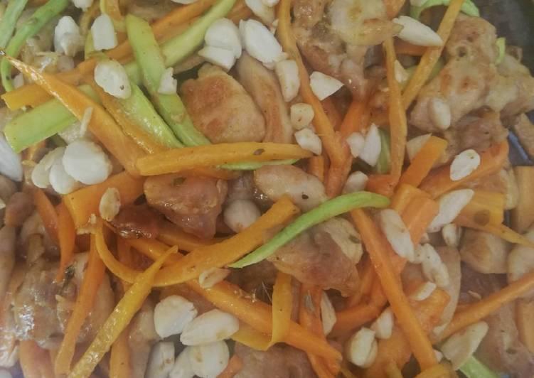 Pollo alle verdure croccanti