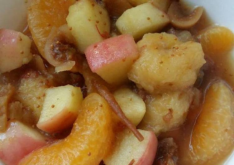 Vickys Warming Winter Fruit Salad, GF DF EF SF NF