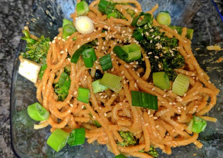 Simple Way to Make Ultimate Sesame Peanut noodles, spicy