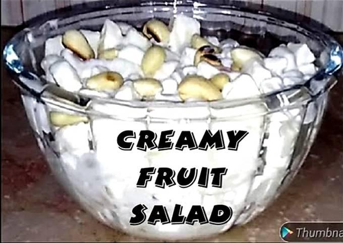 Creamy fruit salad #Cookpadfruits