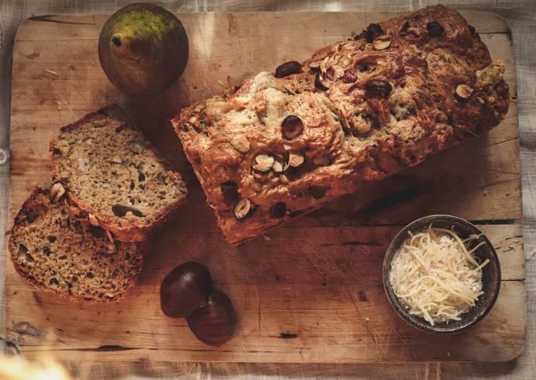 Comment Faire Des Cake aux poires, noisettes et roquefort