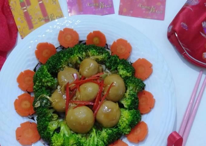 Brokoli Dan Cendawan Masak Sos Tiram