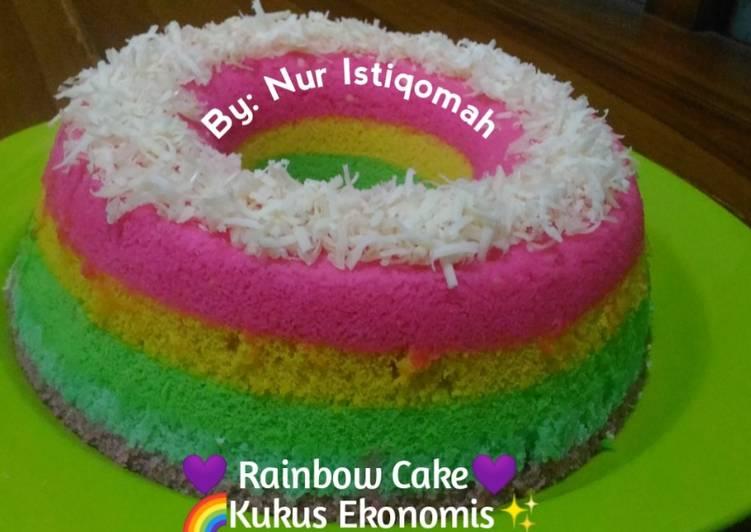 Rainbow Cake Kukus Ekonomis