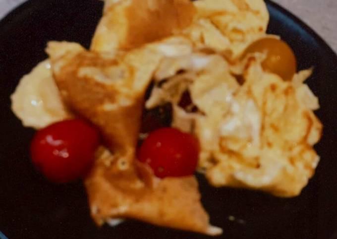 Omelette tomates gruyère