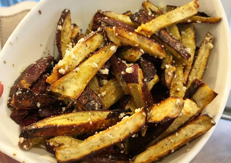 Recipe of Truffle Parmesan Sweet Potato Fries