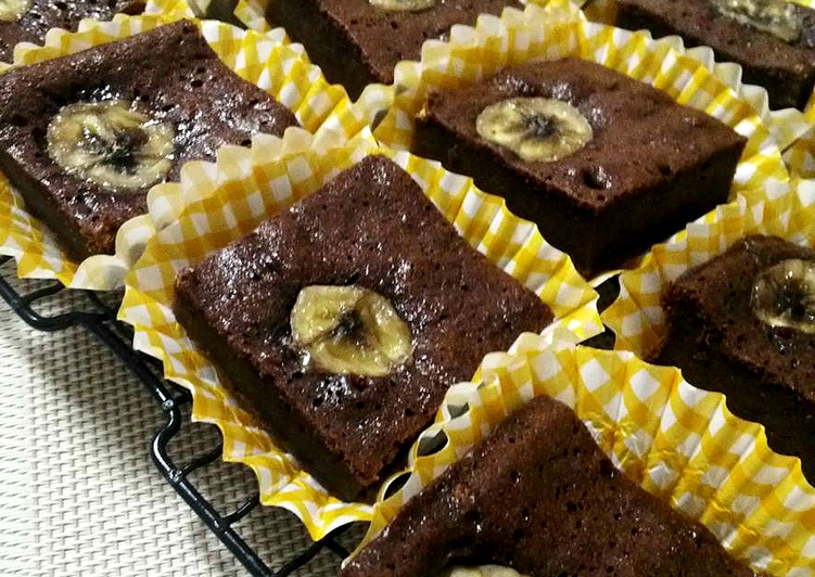 Brownies pisang cokelat