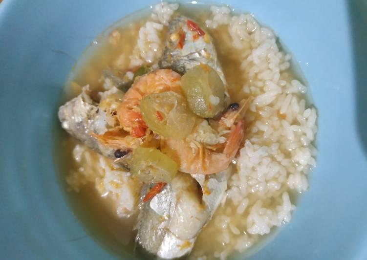 Kuah asem udang dan ikan laut (gelemah)