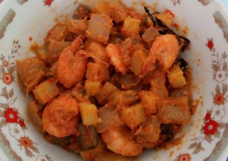Sambal goreng kentang krecek udang