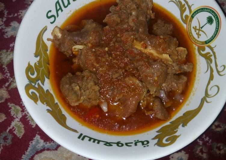 Foods That Can Make You Happy Ram meat pepper soup (farfesun naman rago)