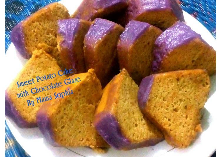 Sweet Potato Cake With Chocolate Glaze