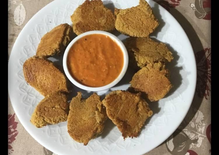 """Ricetta """"Crocchette di fagioli ed erbe aromatiche con salsa di pomodorini arrosto"""""""
