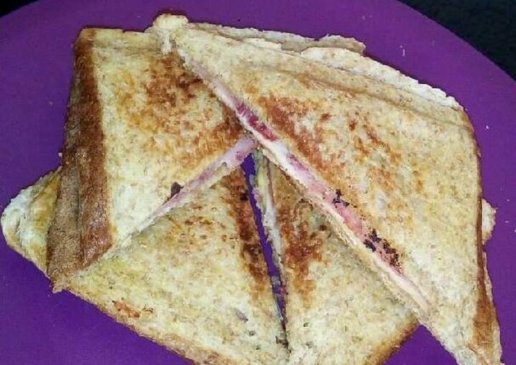 Steps to Make Homemade Toasted cheese & ham