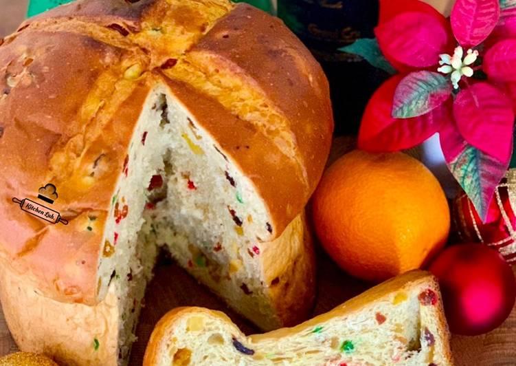 Cara Gampang Membuat Panettone (Italian Fruit Bread) Anti Gagal