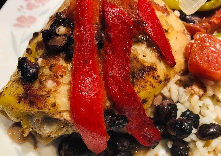 Recipe of Homemade Roasted Red Pepper Chicken 🐔 Thighs